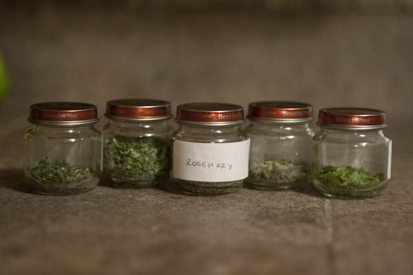 Post image for Homegrown dried herbs